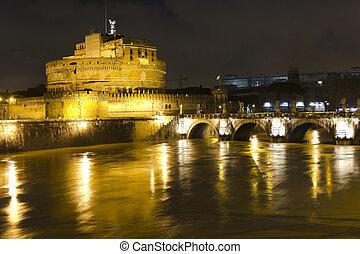 The Mausoleum of Hadrian, Rome, Italy.
