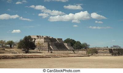 the mayan ruins at mount alban, oaxaca, mexico. the mayans...