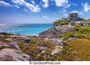 Tulum - The Mayan ruins of Tulum in Mexico.
