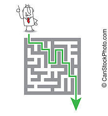 The maze and the solution - Joe has a solution. he wants to ...