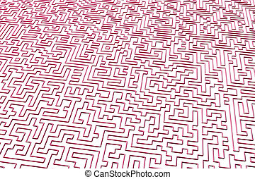 The maze is like an abstract three-dimensional pattern of psychedelic colors. 3D visualization, illustrations. I