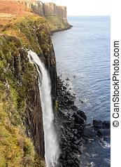 The Mealt Waterfall and Kilt Rock