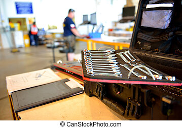 The mechanic tool box