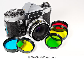 The mechanical SLR and set of photofilters