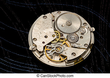 The mechanism of old clock.
