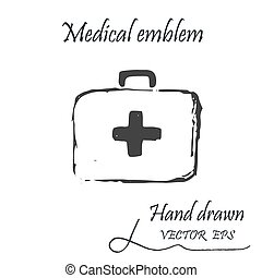 The medical first aid bag icon