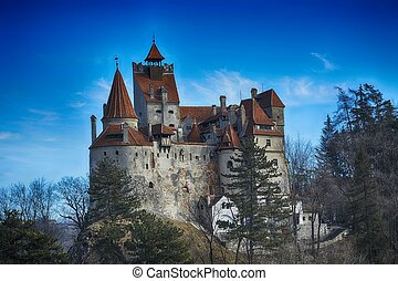 The medieval Castle of Bran, known for the myth of Dracula.