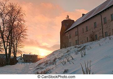 The medieval castle Wesenberg, Germany