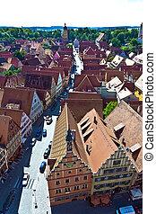medieval city Dinkelsbuehl in Germany - The medieval city ...