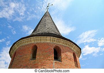 The medieval fortress in Kamenets Podolskiy, Carpathians, ...