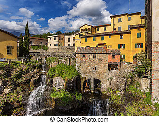 The medieval town of Loro Ciuffenna, Tuscany