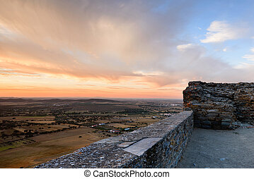The medieval village of Monsaraz is a tourist attraction in the Alentejo, Portugal