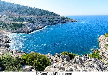 The Mediterranean coast of Turkey in summer