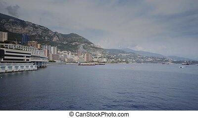 The Mediterranean Sea and the coast in Monaco - Monaco...