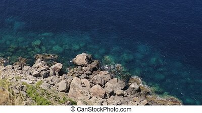 The Mediterranean seashore from above