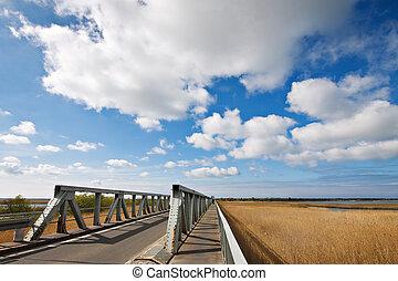 The Meiningen Bridge bridge in Bresewitz (Germany).