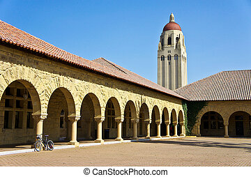Stanford University - The Memorial Courtyard of Stanford...