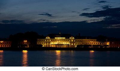 The Menshikov Palace at night