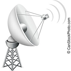 satellite antenna - The mesh satellite antenna with...