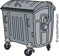 The metal container - The vectorized hand drawing of a metal...