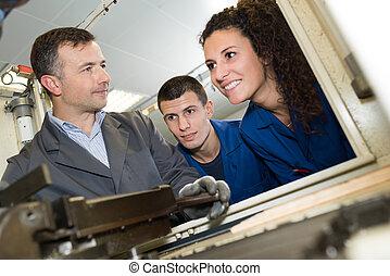 the metal fabrication workshop