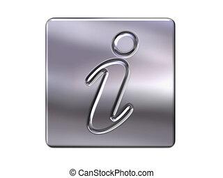 metal information button