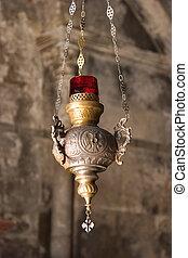 The metal lamp