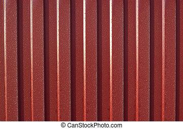 The metal profile - Diagonal pattern of metal profile....