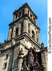 The Metropolitan Cathedral (Cathedral Metropolitana) in Mexico C