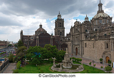The Metropolitan Cathedral in Mexico city - The Metropolitan...