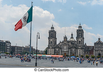 The Metropolitan Cathedral of the Assumption of Mary, Mexico...