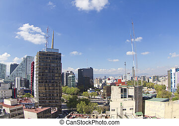 the mexico city skyline