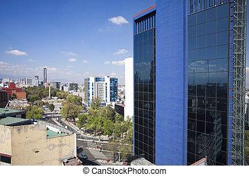 the Mexico city skyline