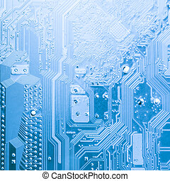 The microchip - Microchip close up background for technology...