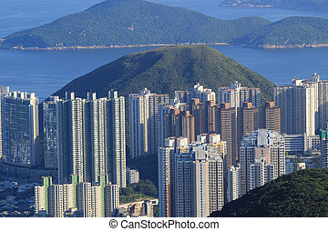 Middle class residential building in Hong Kong