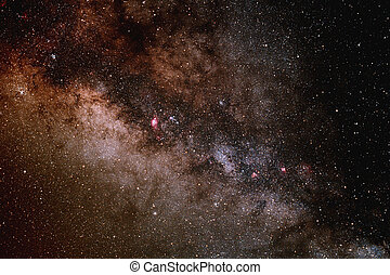 The Milky Way - A portion of the central buldge of the Milky...