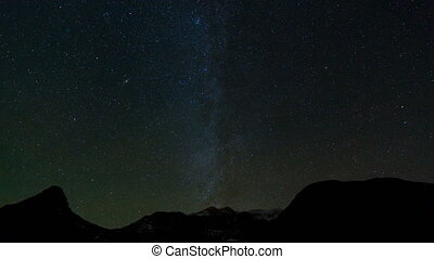 the Milky Way galaxy, the movement of stars around the...