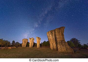The Milky Way over Mor Hin Khao