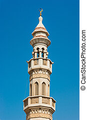 The minaret of a mosque in Dubai