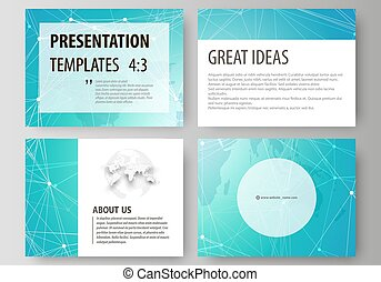 The minimalistic abstract vector illustration of the editable layout of the presentation slides design business templates. Chemistry pattern. Molecule structure. Medical, science background.