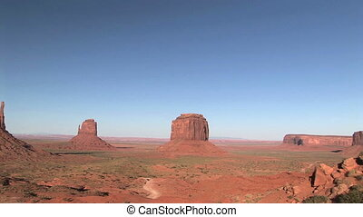 Monument Valley - The Mittens and Merrick Butte, Monument...