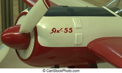The model of the plane YAK-55