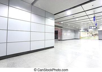 the modern corridor in building