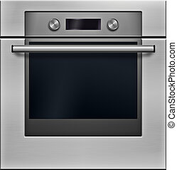 The modern electrical oven - high detailed realistic...