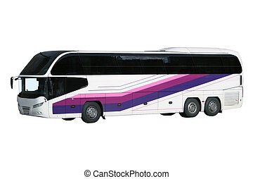 The modern excursion bus isolated on a white background
