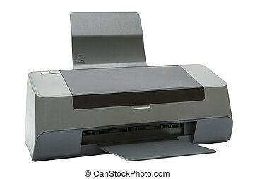 modern inkjet printer - The modern inkjet printer on a white...