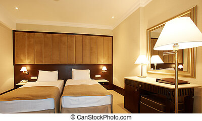 interior of double bed room