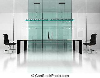 modern interior of office