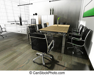 modern interior of office