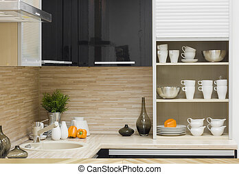 the modern kitchen detail - the modern kitchen interior...